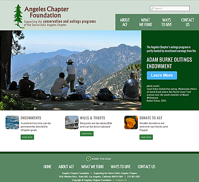 Angeles Chapter Foundation home page